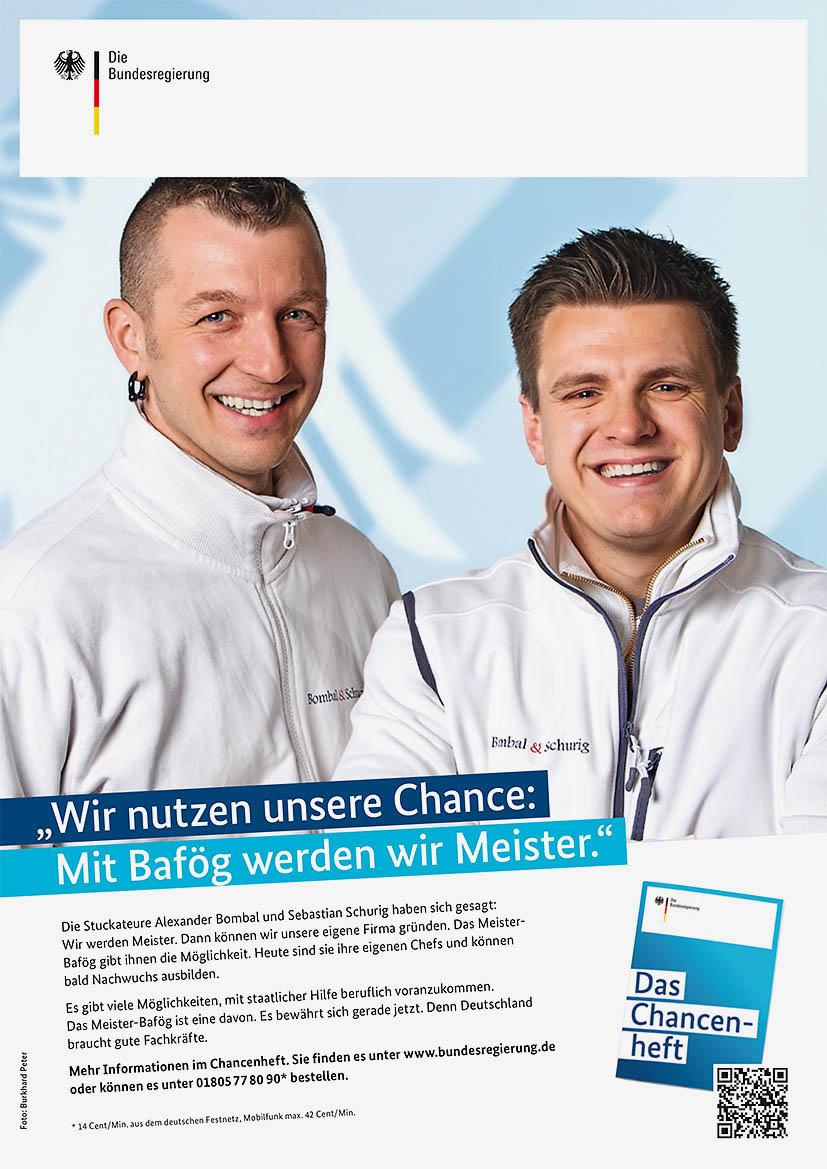 """Anzeige """"Wir nutzen unsere Chance: Mit Bafög werden wir Meister"""
