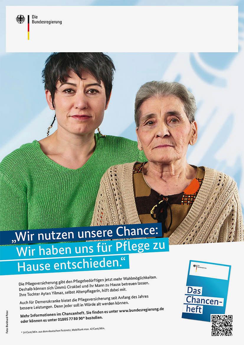 """Anzeige """"Wir nutzen unsere Chance: Wir haben uns für Pflege zu"""